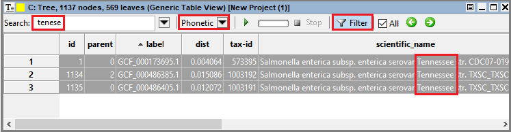 GenericTableView phonetic search filtered