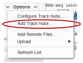 Getting started with Track Hubs